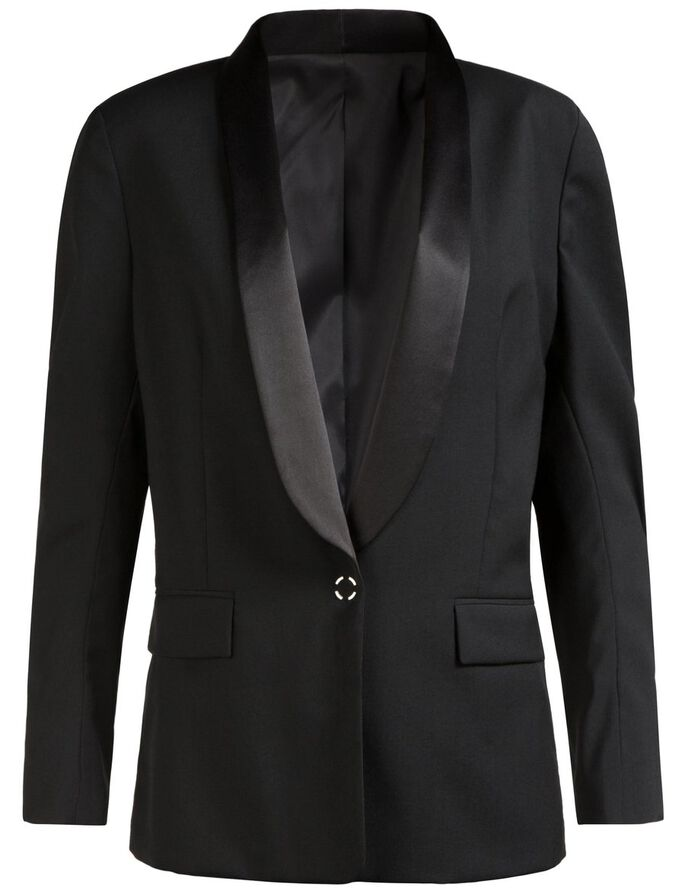 FRIDA TUX SPRING WOOL BLAZER, Black, large