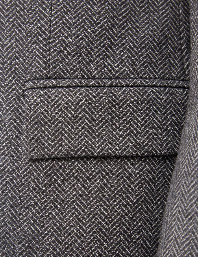 HOPPER DOUX CHEVRONS BLAZER, Grey Melange, large