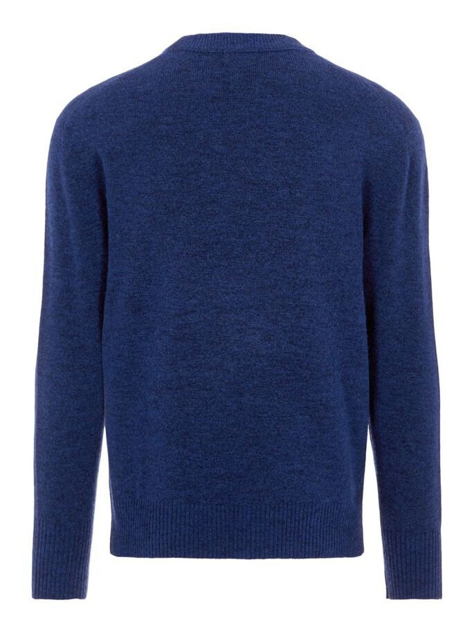 ISAAC CREW NECK SWEATER, Egyptian Blue Melange, large