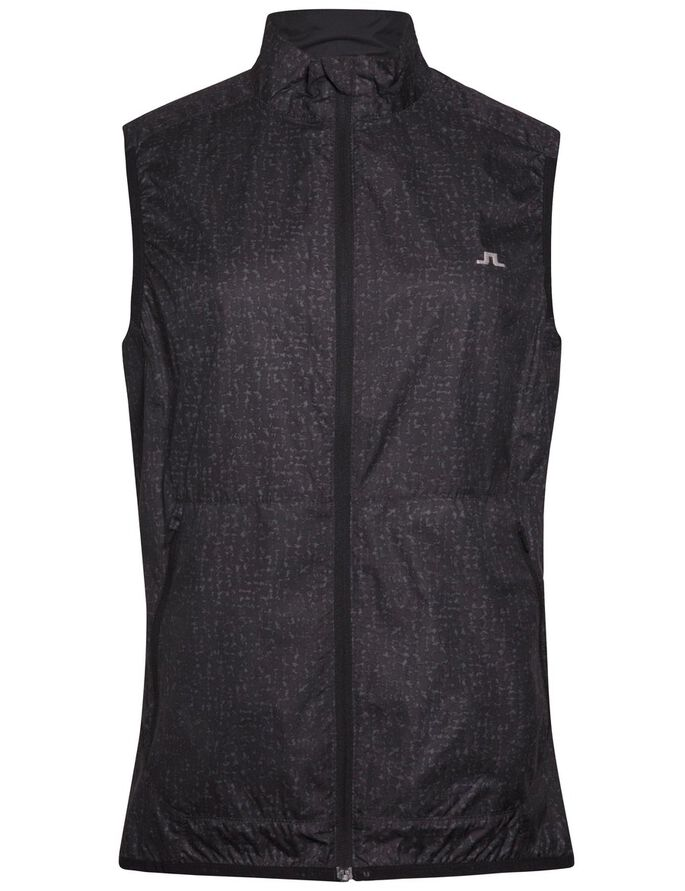 GALE JL WIND PRO VEST, Black Wave Print, large