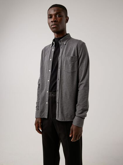 JERSEY STRUCTURE SLIM FIT SHIRT