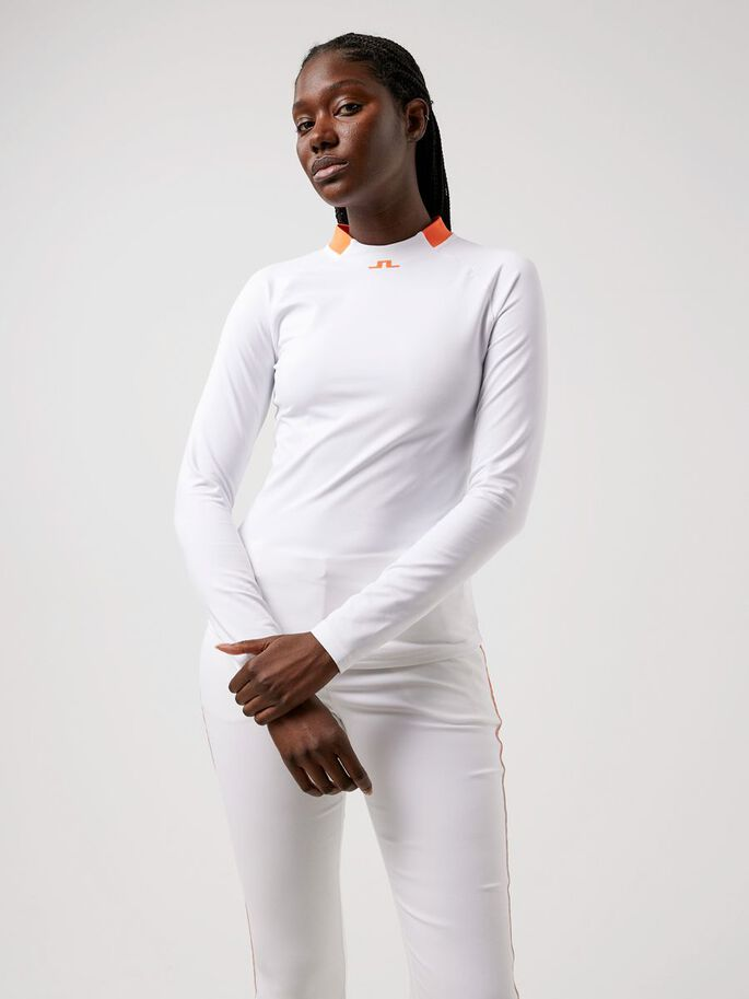 ELEONORE LONG SLEEVED TOP, White, large