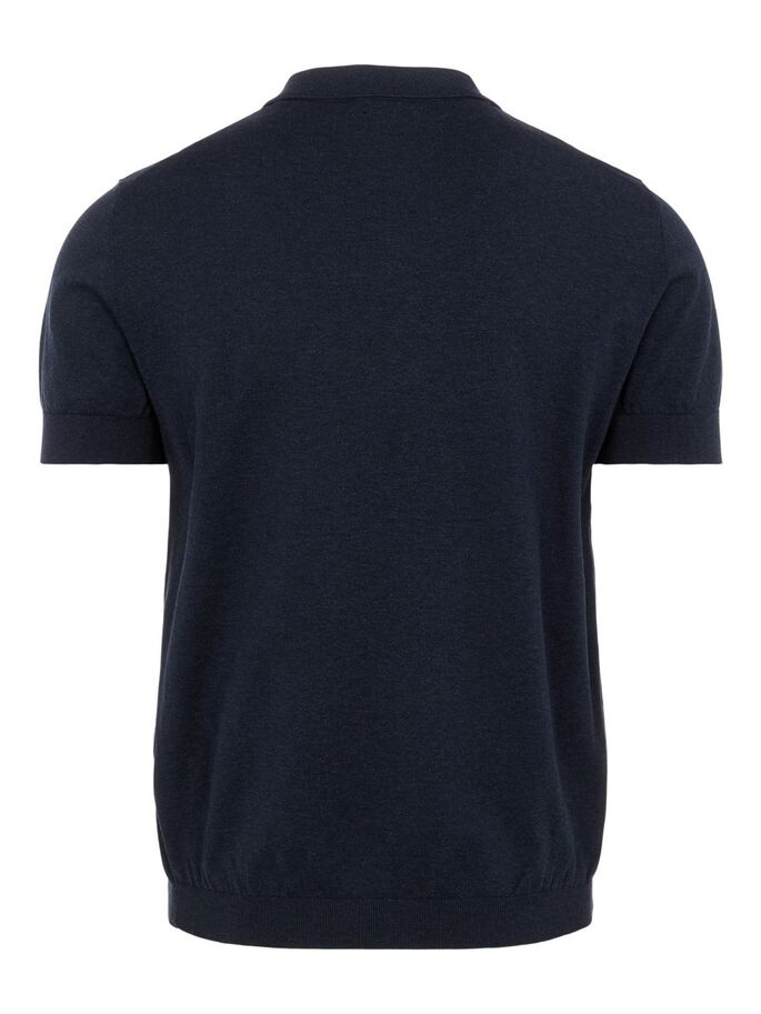 RIDGE COTTON SILK POLO SHIRT, JL Navy, large