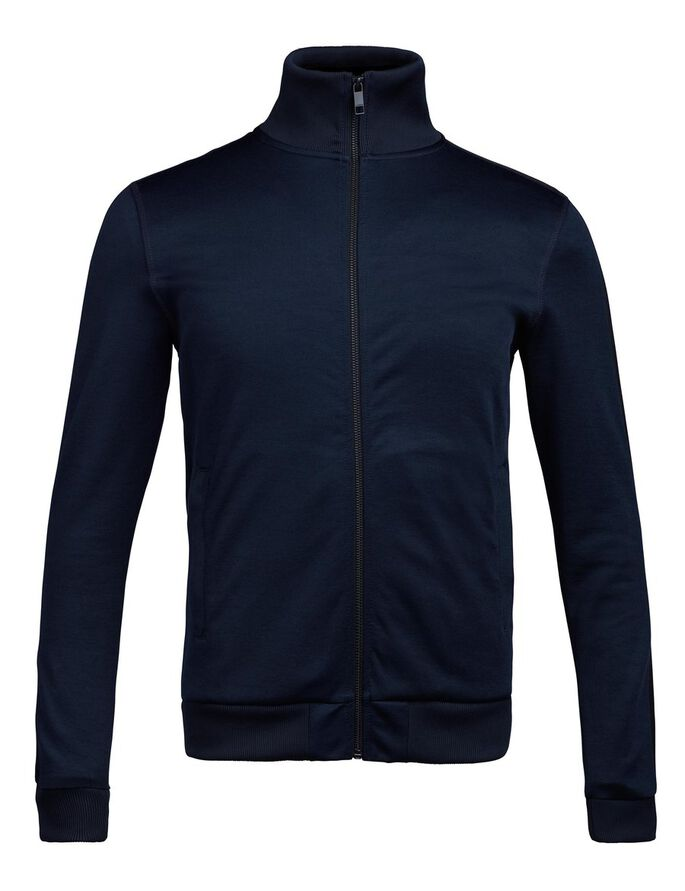 SHANE STRUKTUR SWEAT SWEATJAKKE, JL Navy, large