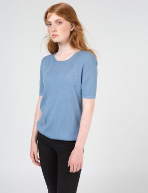 MISHA LIGHT RIB KNITTED TOP