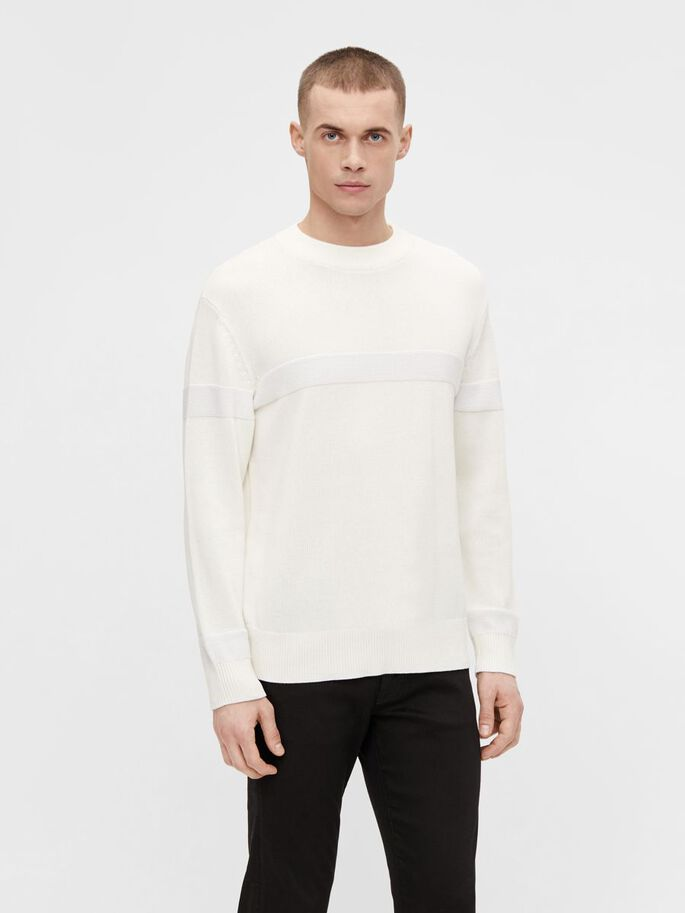PABLO CREW NECK PULLOVER, White, large