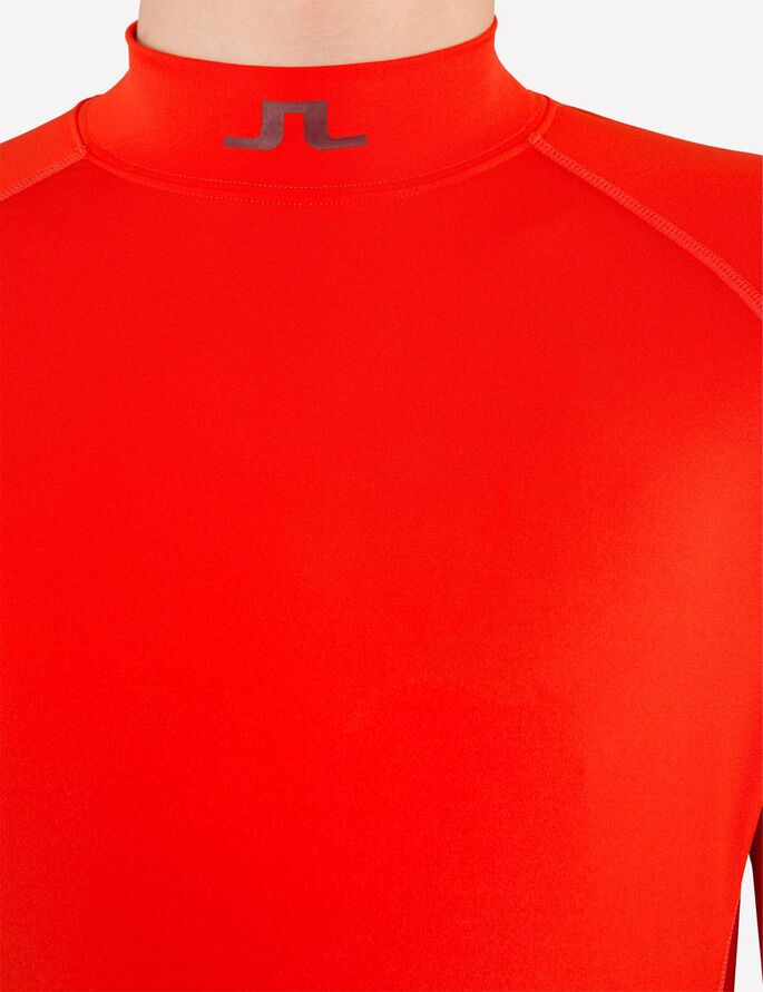 AELLO SCHMALES, WEICHES KOMPRESSIONS- SPORTTOP, Racing Red, large