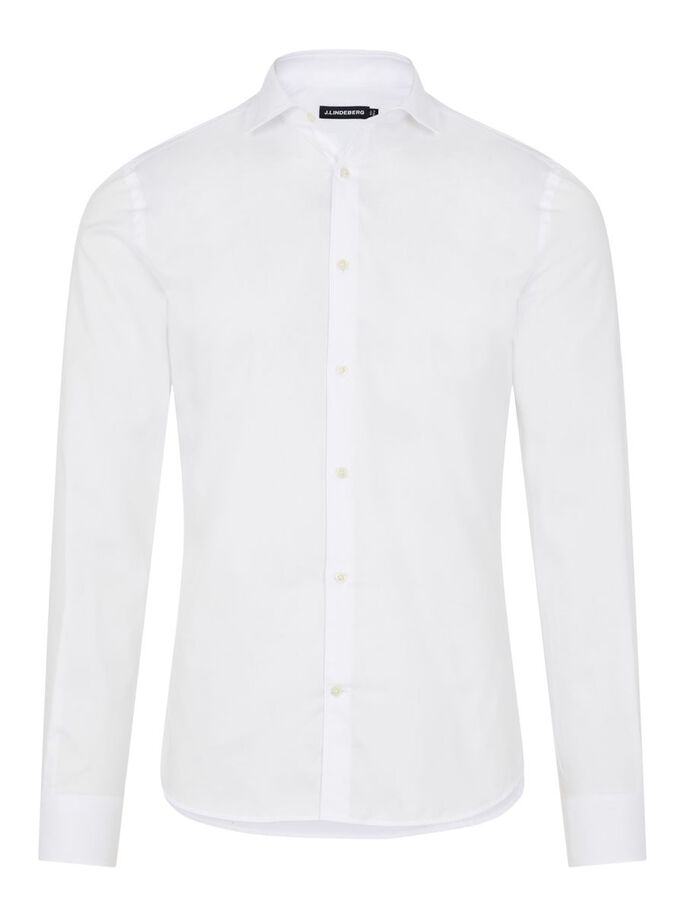 NON-IRON TWILL SUPERSLIM FIT SHIRT, White, large