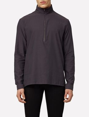 DAVID CREPE MOLINE ZIP SHIRT