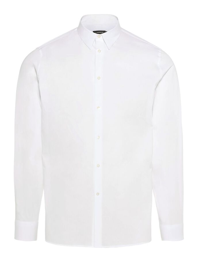 DANIEL CLEAN POPLIN SHIRT, White, large