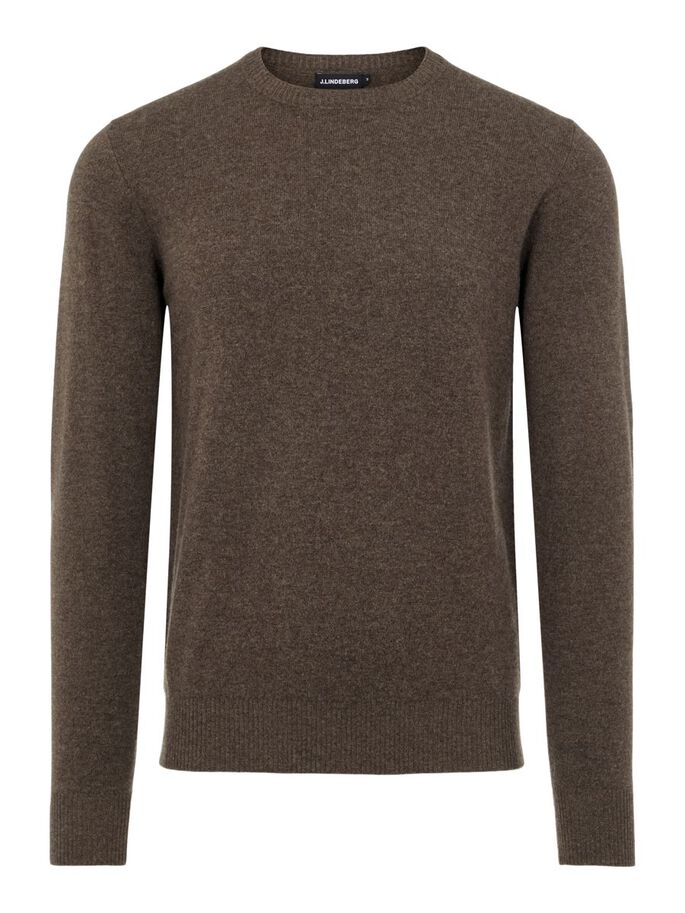 CONOR CASHMERE SWEATER, Umber Brown, large
