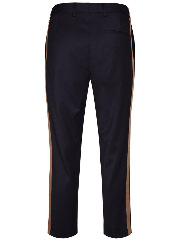 CROPPER SIDE SPORT STRIPE TROUSERS, JL Navy, large