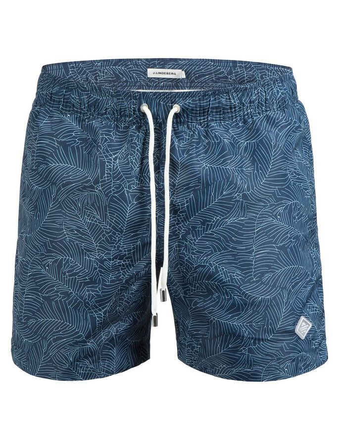 BANKS PATTERN SWIMSHORTS, Mid Blue, large