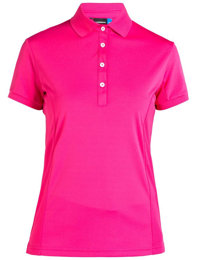 LINDA TX JERSEY POLO SHIRT, Pink Intense, large