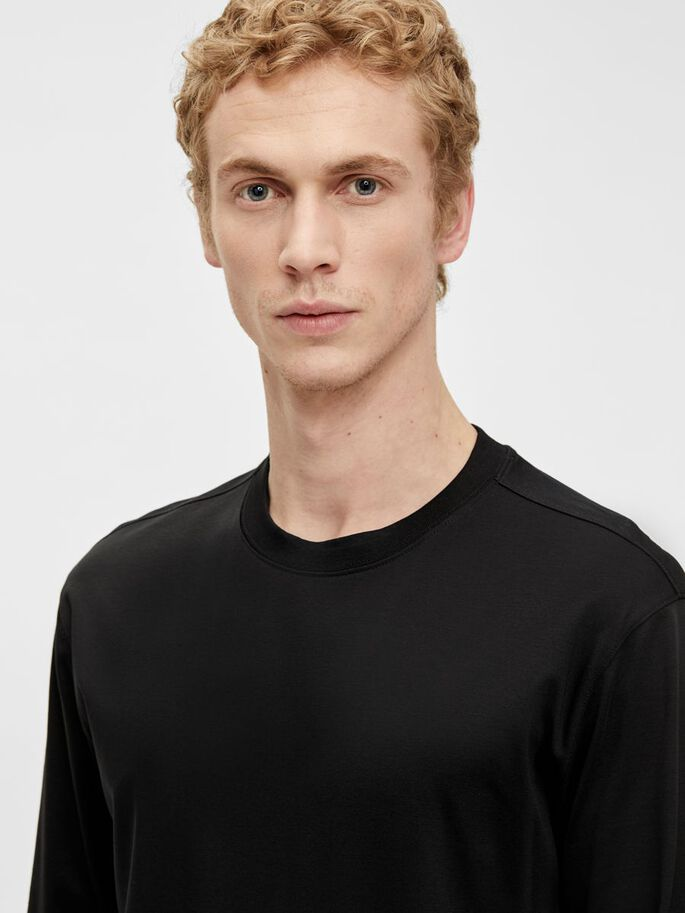 ALEC LONG SLEEVE T-SHIRT, Black, large