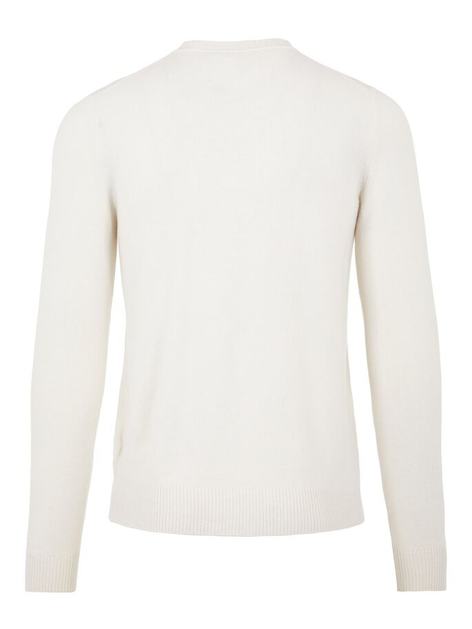 CONOR CASHMERE CREW NECK SWEATER, Cloud White, large