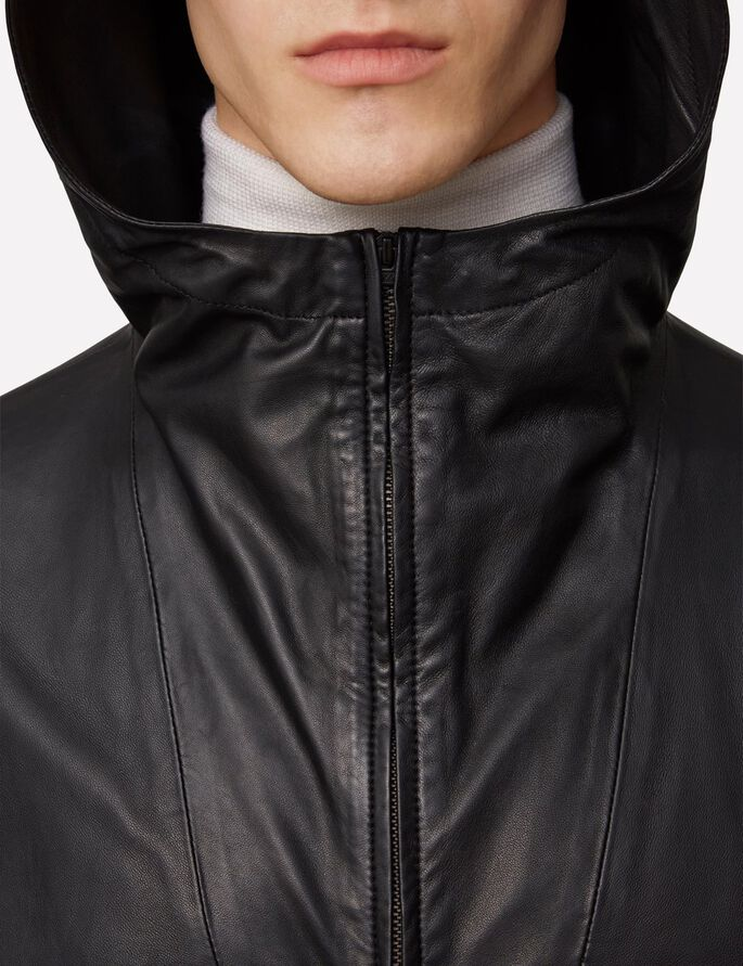 BROKEN CUIR LÉGER 76 ANORAK, Black, large