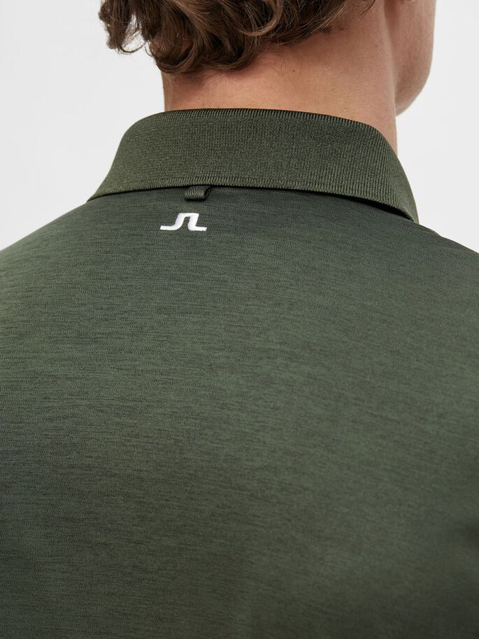 TOUR TECH REGULAR FIT POLO, Thyme Green Melange, large