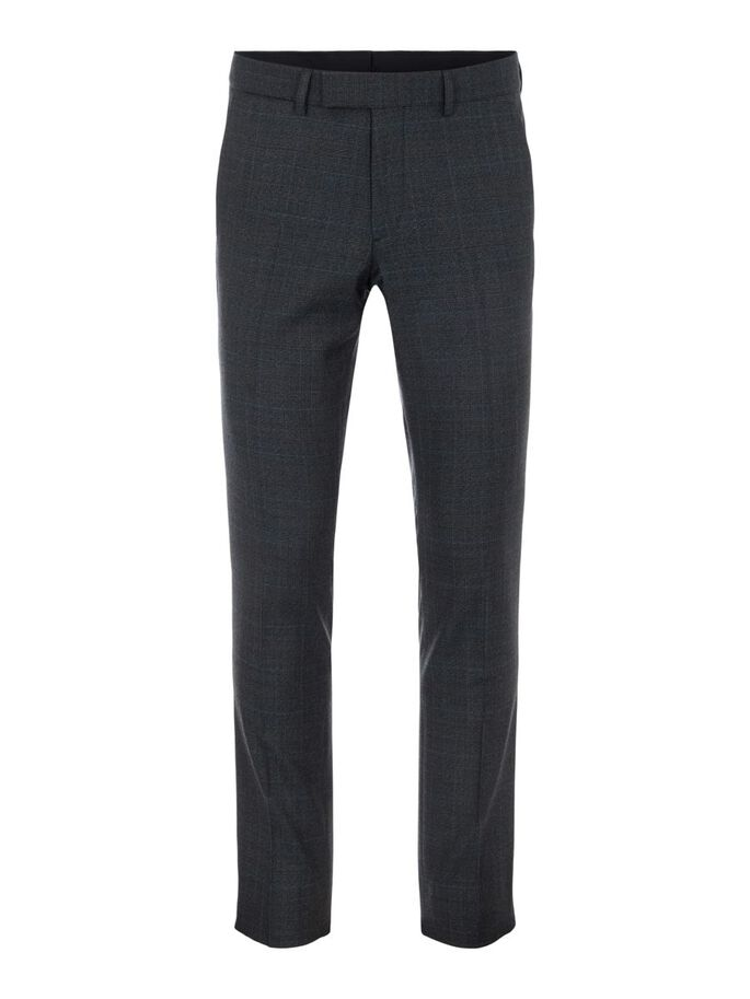 GRANT MOULINE CHECK TROUSERS, Majolica Blue, large