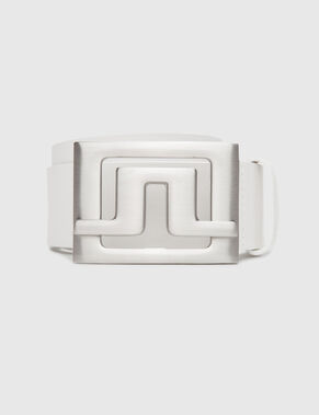 SLATER 55 WHITE LEATHER BELT