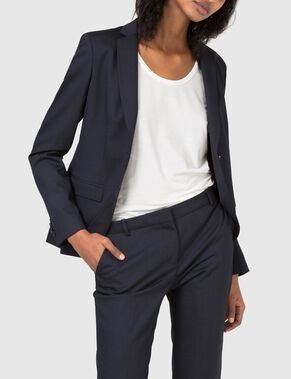 DELLA STRETCH DRESSED WOOL BLAZER