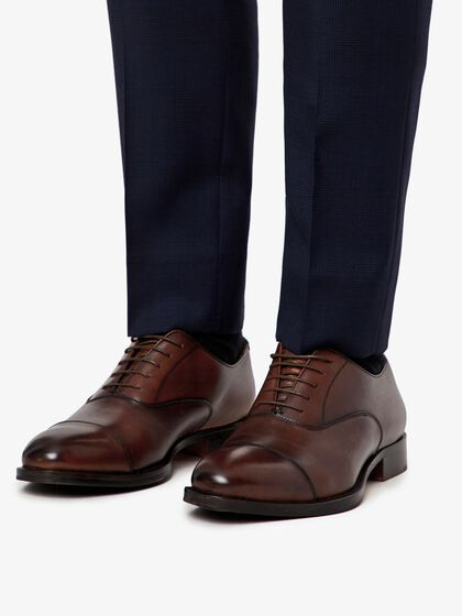 HOPPER CAP TOE PORT OXFORD SCHUHE
