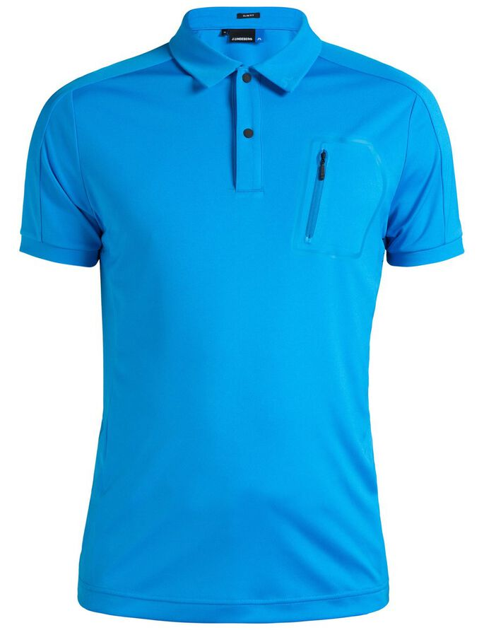 MAX SLIM TX JERSEY + COOLING POLOSHIRT, Electric Blue, large