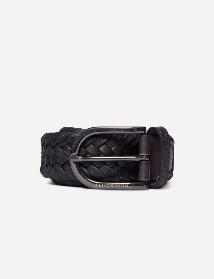 BRAYDEN BRAIDED COTTON BELT, Black, large