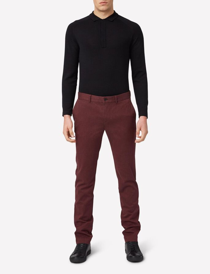CHAZE FLANNEL TWILL CHINOS, Dusty Burgundy, large