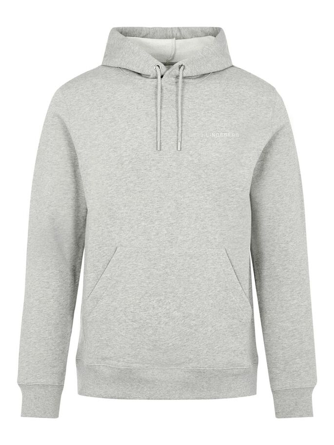 THROW HOODIE, Grey Melange, large