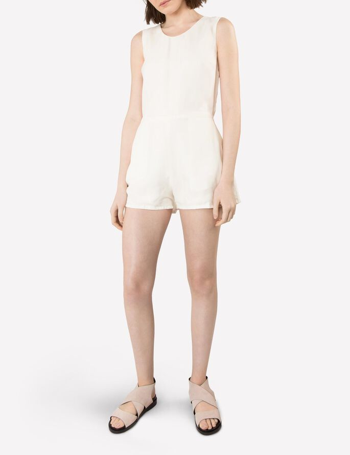 GOLDIE SMOOTH CUPRO- PLAYSUIT, Off White, large