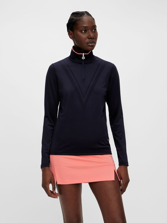 MINYA MID LAYER PULLOVER, JL Navy, large