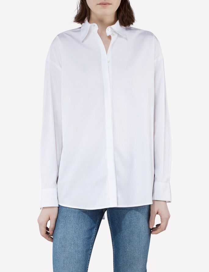 NICCO COMFY POPLIN BLOUSE, White, large