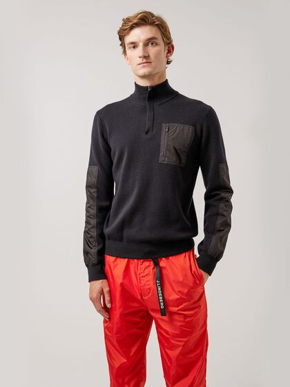 BENNY HYBRID KNITTED SWEATER