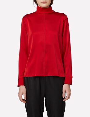HEIDI WASHED SILK TURTLENECK