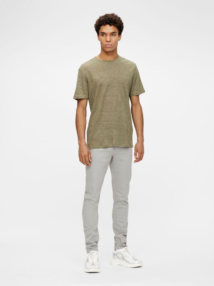 JAY SOLID STRETCH JEANS, Granite, large