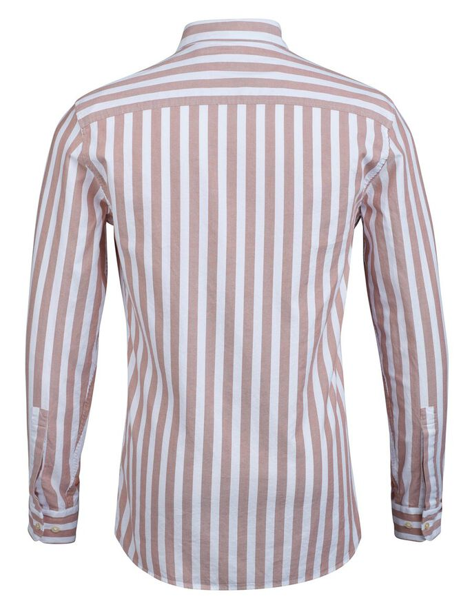 DANIEL PINPOINT STRIPE SHIRT, Rust, large
