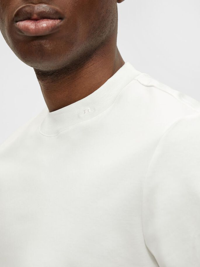 ACE MOCK NECK T-SHIRT, White, large