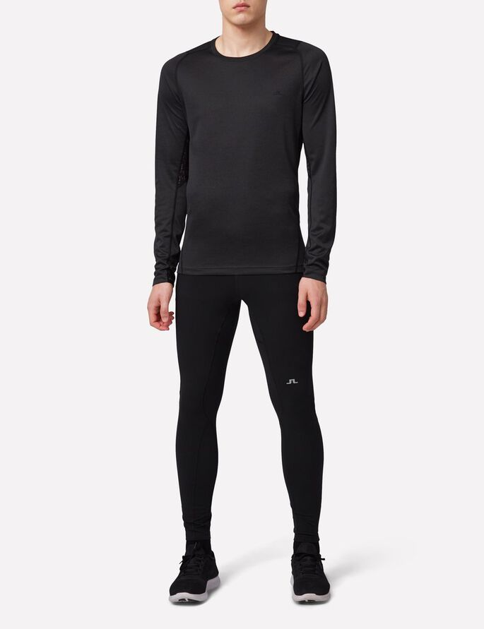 ACTIVE ELEMENTS JERSEY LANGÆRMET T-SHIRT, Black Melange, large