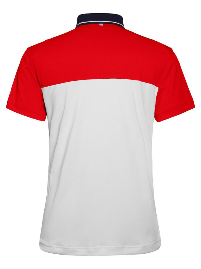 JOHAN SLIM TX TOURQUE POLO SHIRT, Racing Red, large