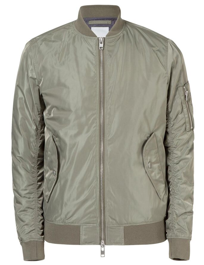 MARKY TAFF NYLON JACKET, Olive Green, large