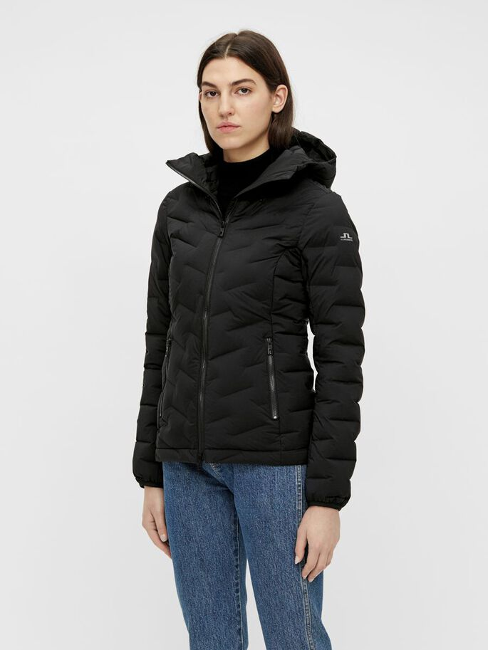 RISE HOODED LINER JACKET, Black, large