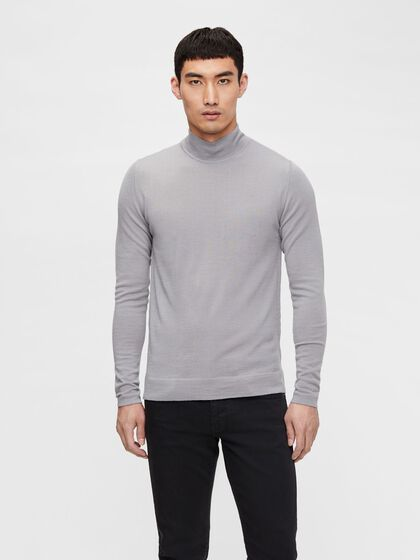 NEAL SILK WOOL MIX TURTLENECK
