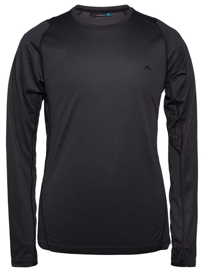 ACTIVE ELEMENTS JERSEY LONG-SLEEVED T-SHIRT, Black Melange, large
