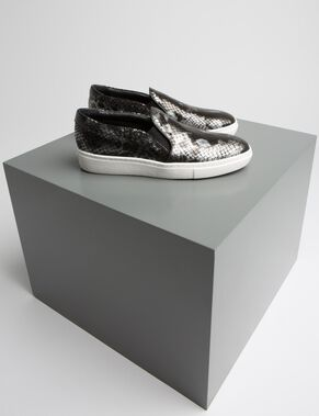 SLIP-ON REPTILE LEATHER SNEAKERS