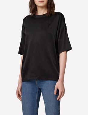 RAISA WASHED SILK SHORT SLEEVED TOP