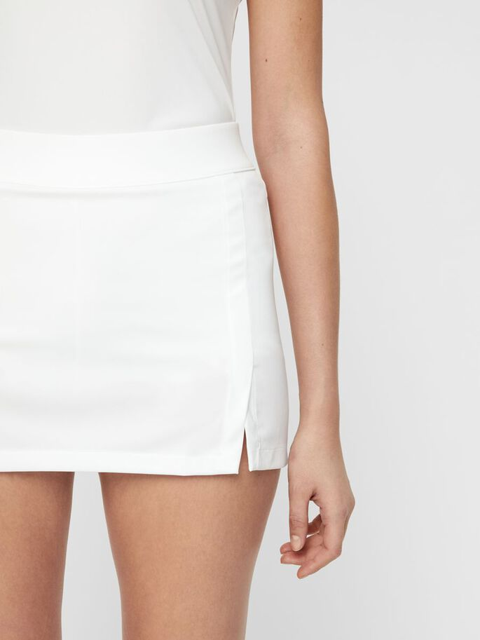AMELIE TX JERSEY SKIRT, White, large