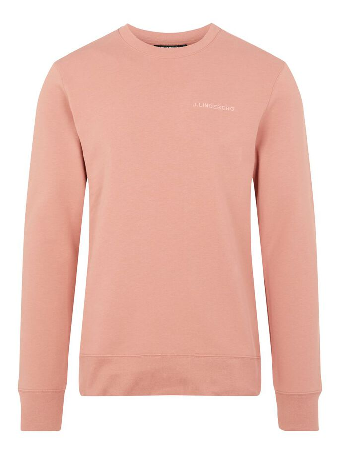 THROW CREW NECK SWEATER, Rose Coppar, large