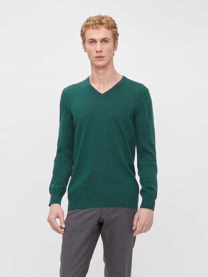 LYMANN MERINO SWEATER, Fresh Green, large