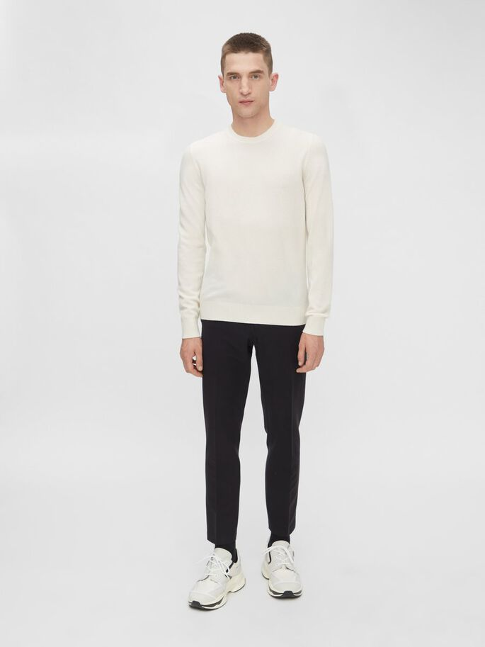 CONOR KASJMIEREN CREW-NECK SWEATER, Cloud White, large